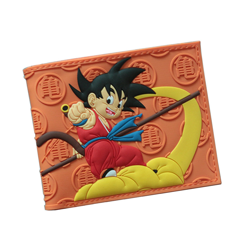 HUIMENG Dragon Ball z Wallet Goku short Purse Young Men Women Students Anime Fashion Short Wallet dragon ball z wallets men women creative gift purse standard short wallet leather money organizer bags cartoon anime wallet