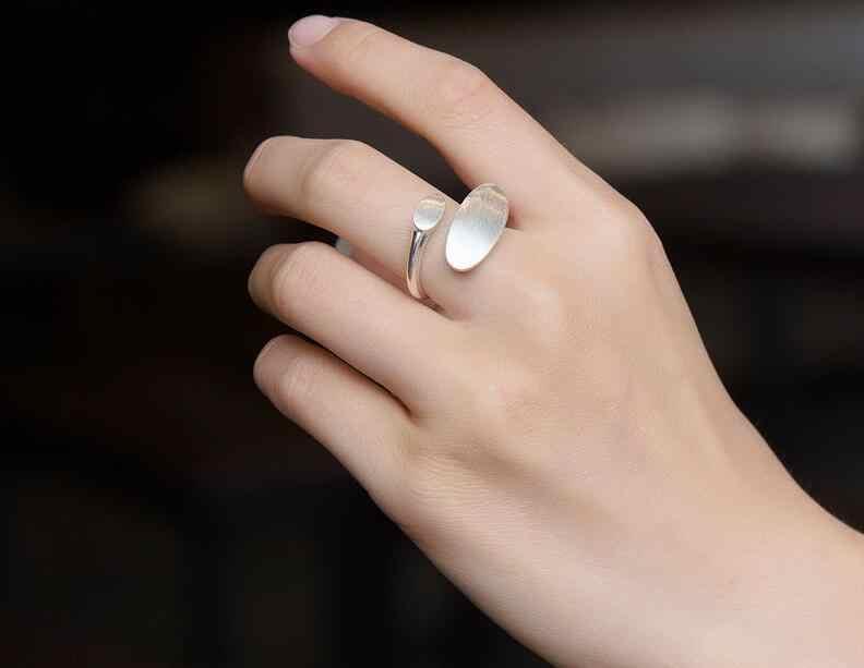 Shuangshuo Neue Mode Silber Überzogene Einfache engagement ring für frauen Einstellbare Geometrische knuckle ring partei geschenk
