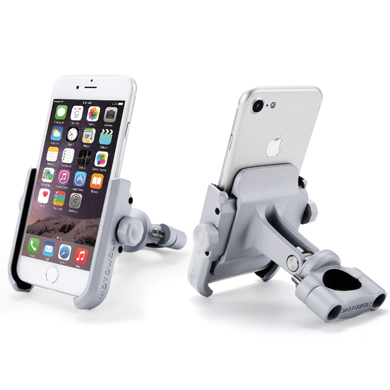 Aluminum Alloy Motorcycle Phone Holder With Stand Support for iPhone Universal GPS Bike Holder Soporte Celular Moto For Xiaomi