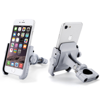 Aluminum Alloy Motorcycle Phone Holder With Stand Support for iPhone Universal Rearview Mirror Bike Holder Soporte Celular Moto
