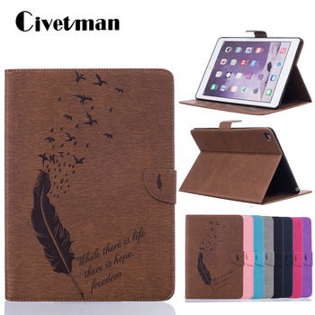 Case for ipad Air 2 Case Air1 Pu Leather + Soft Back Case with Wallet Card Slot Stand A1566 A1567 Cover for ipad air 1 2 Case