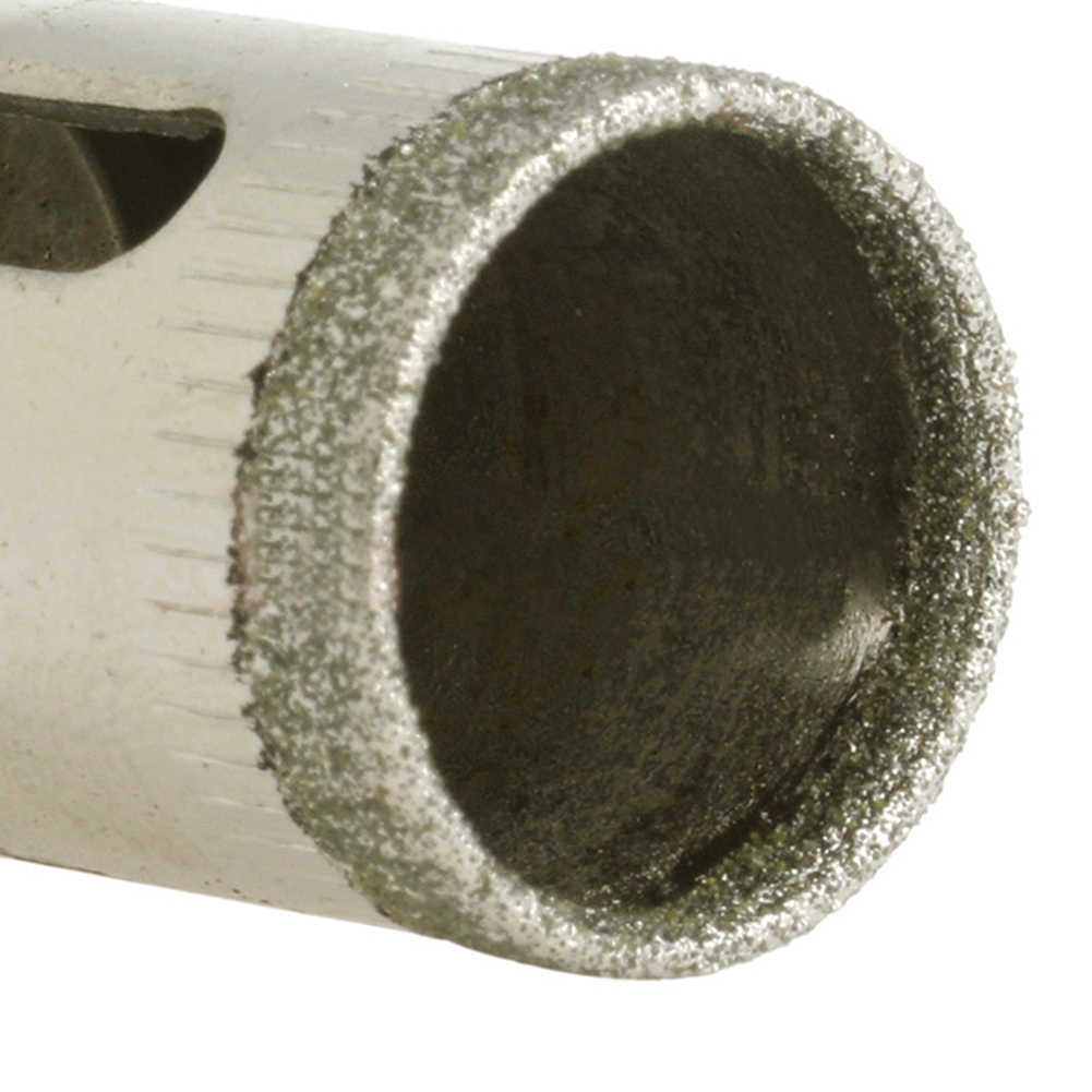 Sierra de agujero con revestimiento de diamante, azulejo de cerámica de vidrio, núcleo de mármol, taladro cortador de 4mm-30mm