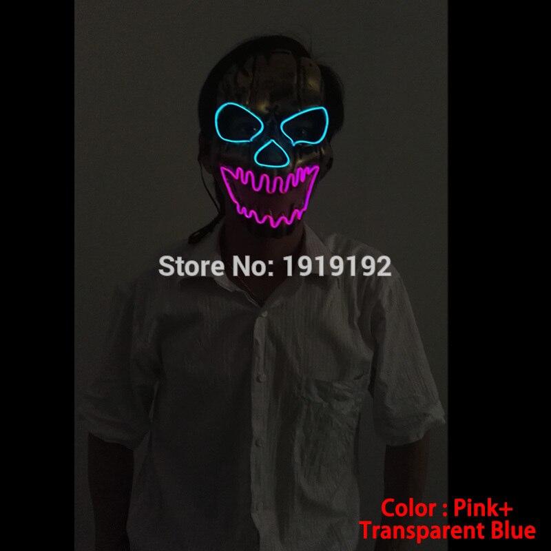 EL žična maska Light Up Neon lobarska LED maska za - Prazniki in zabave - Fotografija 4