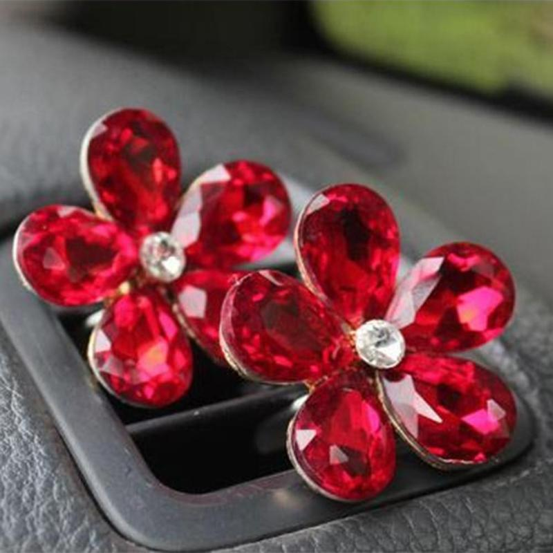 HTB17nrFmcyYBuNkSnfoq6AWgVXaI VODOOL Car Interior Accessories Automobile Air Conditioner Outlet Crystal Flower Decor Car Ornaments Vent Perfume Decoration