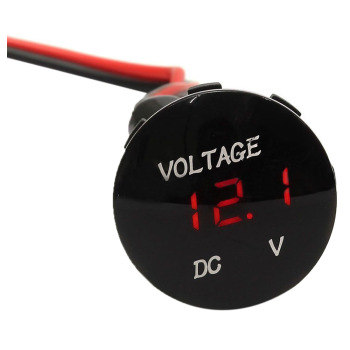 Waterproof LED Digital voltmeter Voltage Digital Car Car Panel Meter 12-24V image