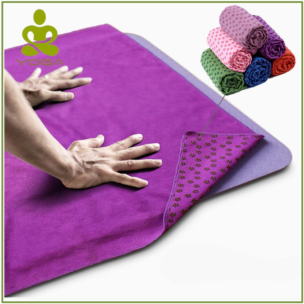Non Slip Yoga Mat Cover Towel Anti Skid Microfiber Yoga Mat Size 183cm*61cm 72''x24''  Shop Towels Pilates Blankets Fitness