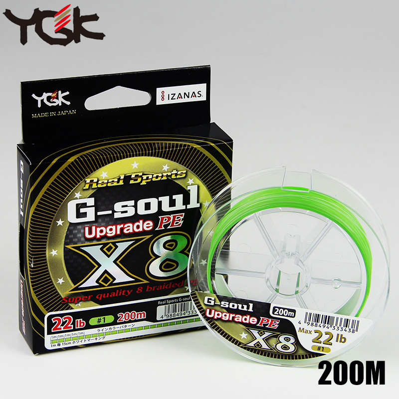 YGK Braided Wire Original Fishing Line G SOUL X8 upgrade PE 8 Braid made in Japan