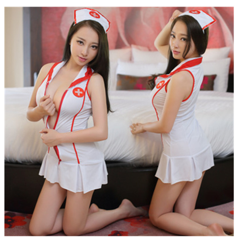 2018 New Plus Size Sexy Teddy Nurse Costume SM Cosplay Sexy Costumes Erotic Dress Adult Sexy Lingerie female