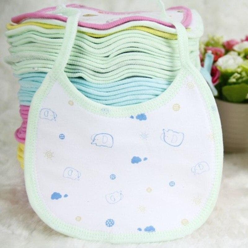 10pcs/ Lot Cute Newborn Baby Bibs Waterproof Saliva Towel Bib Feeding Bandana Cheap Pric ...