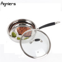 Agniers Cooking Pan Stainless Steel Tri Ply Bonded 9 5 2 5 Quart Saute Pan With