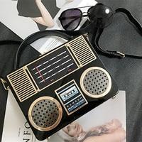 Fashion Designer Female Handbag Retro Radio Style Lady Carrying Bags Messenger Bag