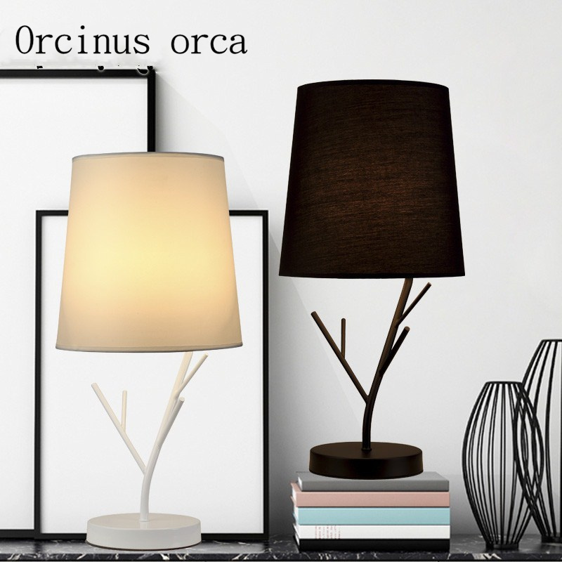 Simple modern table lamp bedroom living room cloth art hotel dimming creative fashion table lamp tuda 31x51cm free shipping american style table lamp minimalist design resin table lamp modern dimming table lamp living room