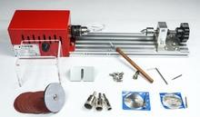 Mini DIY Metal Woodworking Lathe Miniature Buddha beads Grinding Machine Wood Cutter Polisher 280W