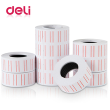 все цены на Deli 10 roll Adhesive Price Labels Paper Tag Price Label Sticker Single Row for Price Gun Labeller 21mmX12mm Suitable grocery онлайн