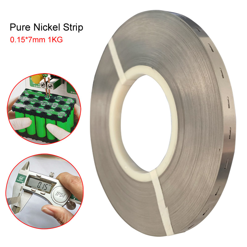 1k 0 15x7mm Perforated pure nickel strip 99 93 High Purity pure nickel belt for 18650