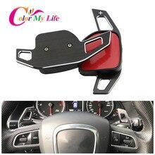 Cor minha vida volante do carro dsg paddle extensão shifter shift adesivo para assento alhambra/ateca/leon fr/leon/leon 4 5f