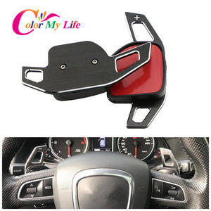 Image 1 - Kleur Mijn Leven Auto Stuurwiel Dsg Paddle Uitbreiding Shifter Shift Sticker Voor Seat Alhambra /Ateca /Leon Fr/Leon /Leon 4 5F