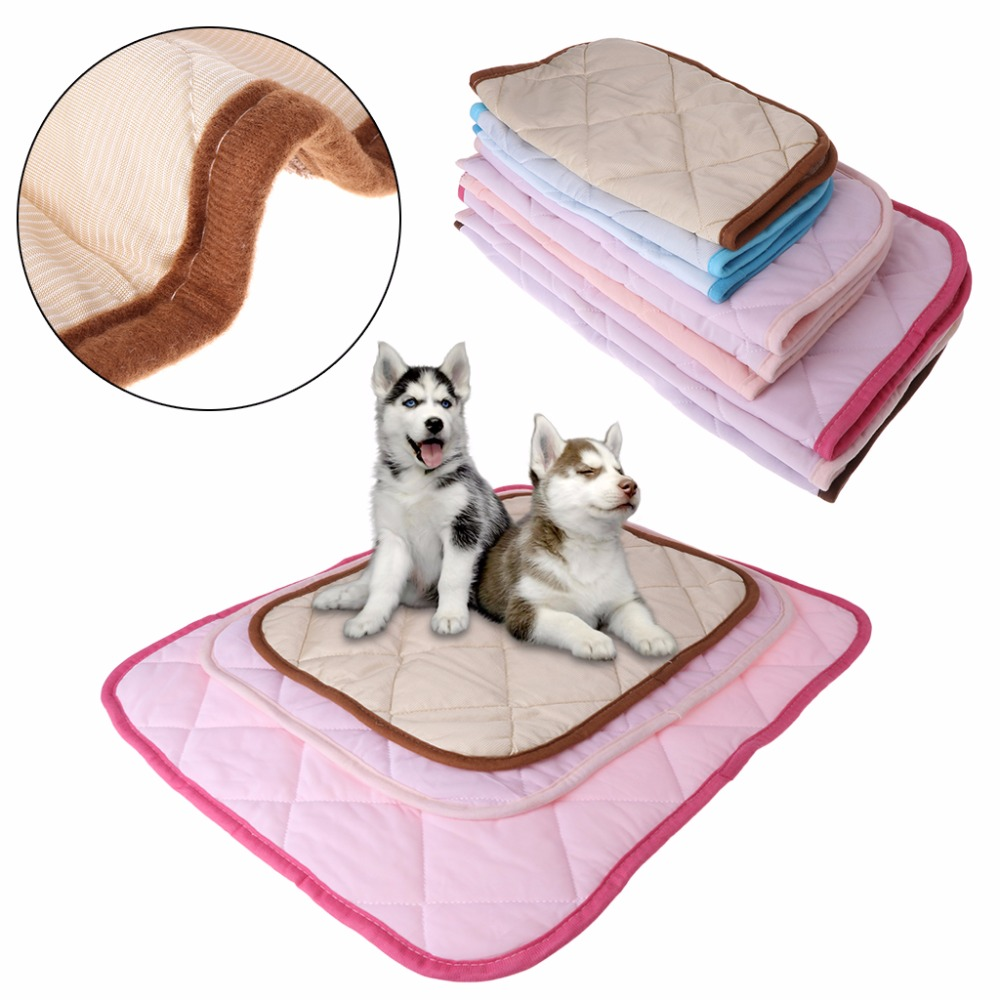 1pc Pet Dog Cooling Pad Summer Mat Bed Quilt Viscose Fiber Cool Mats Dogs Puppy Cats Breathable Cushion 3 Size Pet Supplies C42