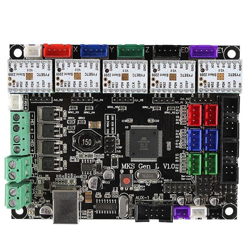 New 3D Printer Motherboard Mks Gen L V1 0+ Tmc2209V2 0x5 Ultra-Quiet Drive  Kit