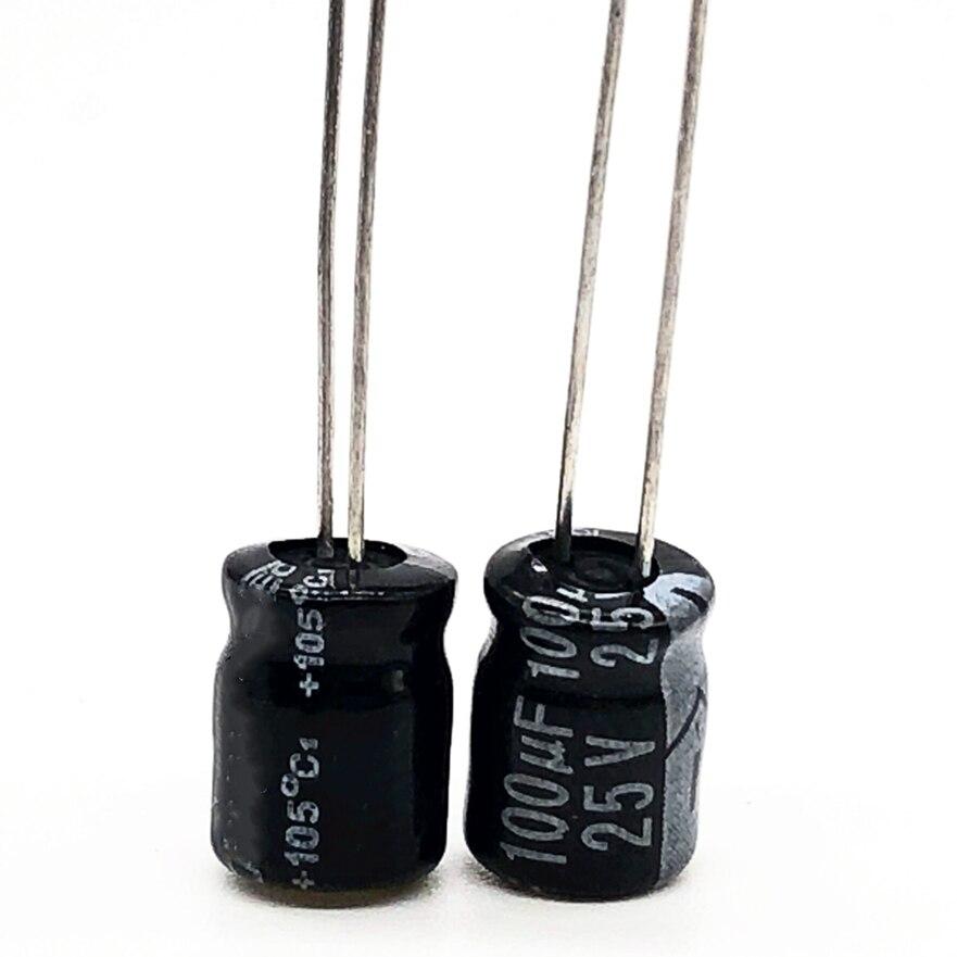 25V 100UF 6*7 Aluminum Electrolytic Capacitor 100uf 25v 20%