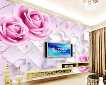 beibehang Custom 3D Mural Wallpaper European Style rose Flower vine Wall Painting Living Room TV Background 3d Wallpaper behang beibehang custom wallpaper mural 3d blue flower hotel living room wall 3d wallpaper wall sticker wallpapers for living room