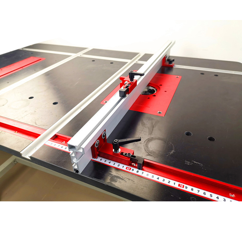 Image 4 - 600mm/800mm Aluminium Profile Fence 75mm Height T tracks and Sliding Brackets Miter Gauge Fence Connector Woodworking Accessorie-in Woodworking Machinery Parts from Tools
