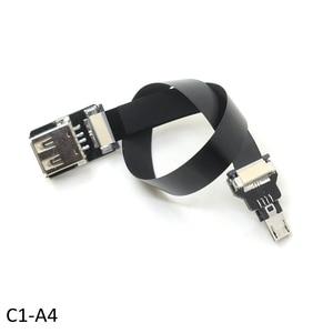 Image 2 - FPV Monitor Standard USB Type C Super Flat flexible FPC Charging Cable USB 2.0 female USB C Micro USB Ribbon OTG Cable AV output