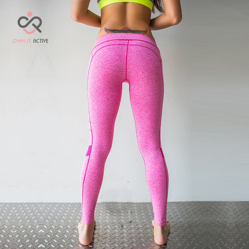 5 Color Sexy Women Sports Yoga Pants Leggings Elastic Gym Fitness Workout Running Tights Compression Trousers P100
