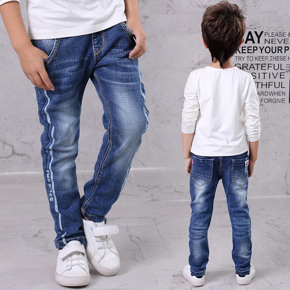 4 5 6 7 8 9 10 11 12 13 Years Children Jeans 2017 Autumn Mid Boys Denim Pant Long Trousers Teenage Slim Pants Kids Boys Clothes