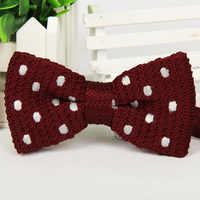 Mantieqingway Business Suits Bow Tie For Men Popular Knit Neckties Bow Tie For Wedding Classic Dot Men's Bowtie Gift For Adult