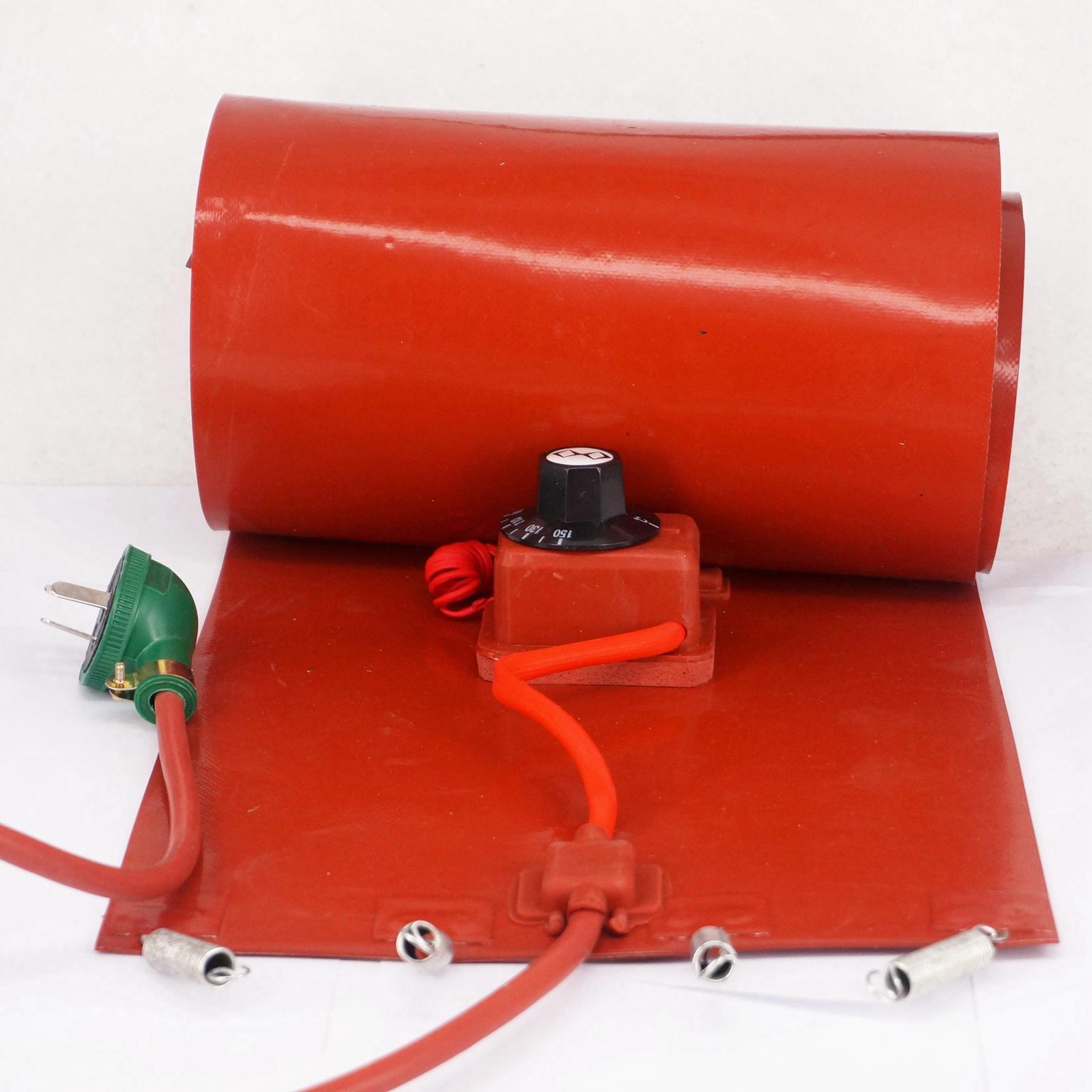 200 L (55 Gallons) 250x1740x1.6mm 3000 W Flexible De Silicium Bande Tambour Chauffe-Couverture Biodiesel d'huile En Plastique Baril En Métal