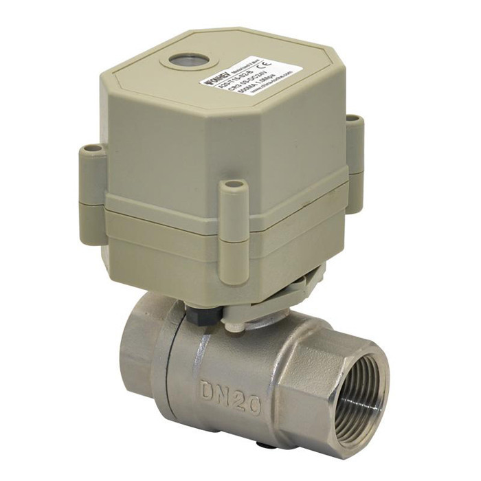 Free shipping DN20 AC/DC9-24V 2 wires TF20-S2-C 2 Way 3/4'' Full Port Normal Closed Valve Stainless Steel Electric Water Valve tf20 s2 c high quality electric shut off valve dc12v 2 wire 3 4 full bore stainless steel 304 electric water valve metal gear