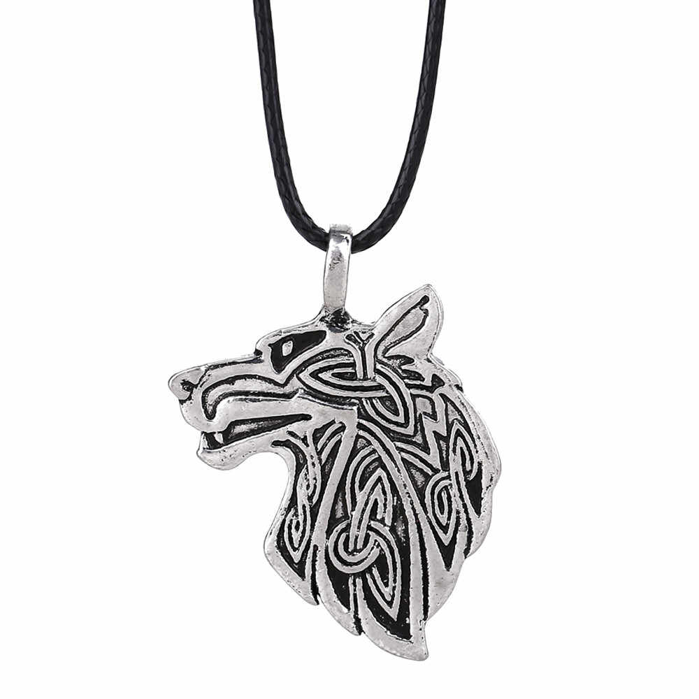 Stylish Jewelry Viking Necklace Fox Wolf Various shapes Teen Men women Necklace Fashion Pendant Supernatural Amulet Knot droship