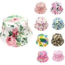 NewKids niñas patrón Floral sombreros del sol casco sunhats para niños Soft  algodón Sun Cap verano a56a7cb8fd7