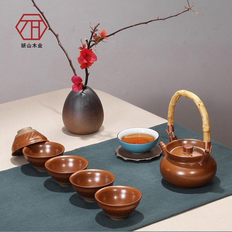 [] Liang Yan Mountain firewood imitation tea 10 sets of new Chinese creative Kung Fu tea wholesale[] Liang Yan Mountain firewood imitation tea 10 sets of new Chinese creative Kung Fu tea wholesale