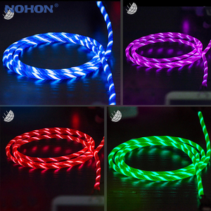 Image 2 - LED Flash Light Data Usb oplaadkabel Voor iPhone. Andriod micro Kabel, type C kabels 6 s 6 s 7 8 Plus Xs Max XR X 10 5 5 s SE ik