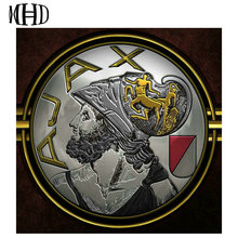 MHD Full Square / Round 5d diy Diamond Embroidery AJAX 3D Diamond Cross Stitch Crystal Decoration Mosaic Football Shield