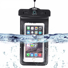 цена на Waterproof Case, Universal Dry Bag Pouch with Compass Lanyard,WaterProof, Dustproof, Snow proof Dry Bag for Any Cell Phone