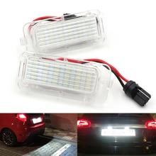 Niscarda 2 шт. 6000 K светодиодная подсветка автомобиля светодиодный номерной знак лампа для Ford Focus 5D Fiesta Mondeo MK4 C-Max MK2 S-Max Kuga