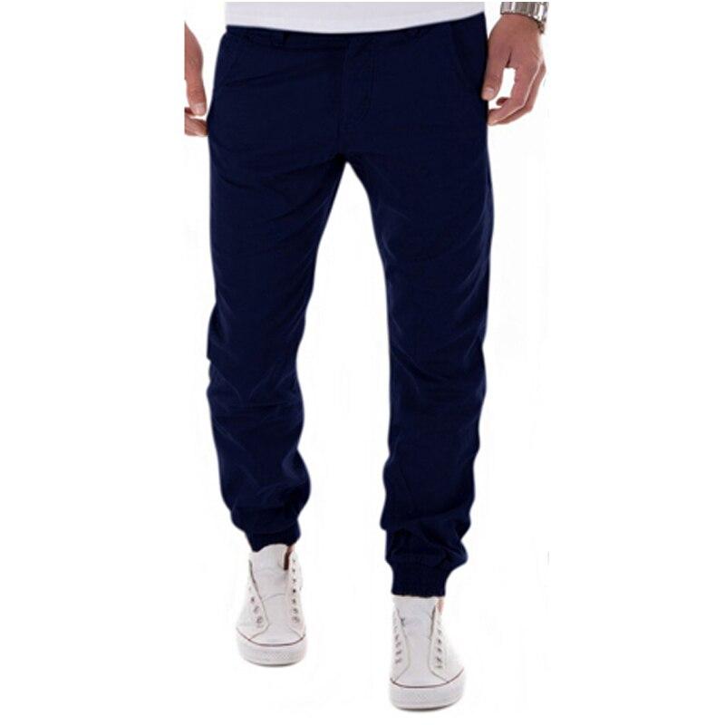 2017 New Design Casual Men Pants Cotton Slim Pencil Pants Fashion And Leisure Khaki Black Pants