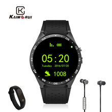 Kaimorui KW88 Bluetooth Montre Smart Watch iphone Électronique Montre MTK6580 Smartwatch Android Soutien Moniteur de Fréquence Cardiaque Wifi Podomètre(China)