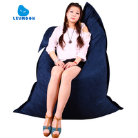 LEVMOON Beanbag Sofa Chair Magic Bag Seat Zac Comfort Bean Bag Bed Cover Without Filling Micro