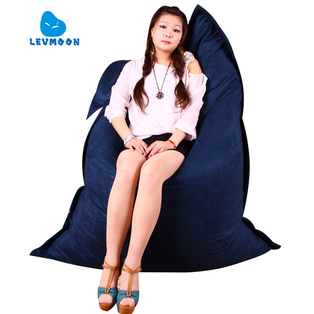 LEVMOON Beanbag Sofa Chair Magic Bag Seat Zac Comfort Bean Bag Bed Cover Without Filling Micro-suede Indoor Beanbag Lounge Chair  free shipping baby bean bag with 2pcs black up cover baby beanbag baby chair baby seat cover bean bag covers only