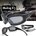 Tactical Daiisy X7 Militar Gafas Gafas gafas de Sol Del Ejército Con 4 Lentes Caja Original Hombres Eyewear Gafas de Tiro
