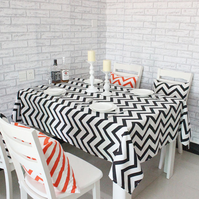 Charmant Casual Fashion Modern Style Geometric Wave Cotton Tablecloth Wedding  Tablecloth Party Table Cover Free Shipping