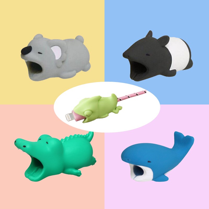 Cute Animals Usb Charger Phone Cable Organizer Bite Protector For IPhone Andriod USB Cable Charger Protector G