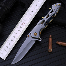 Portable pocket knife Folding Knife tactical Survival Knives Hunting Camping Blade High hardness Outdoor military survival knife high hardness tactical folding knife survival pocket knife hunting knives milling pattern handle inlaid micarta 1084
