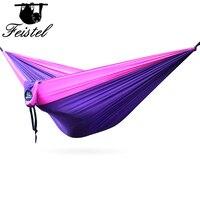 Purple Hammock Camping Double & Single hammock mosquito net Tree Hammocks Outdoor Backpacking Survival & Travel, Portable