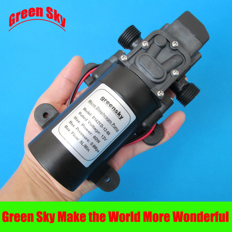 High Pressure lawn,garden,vehicle cleaning, carpet cleaning usage DC 60W 12v mini diaphragm pump