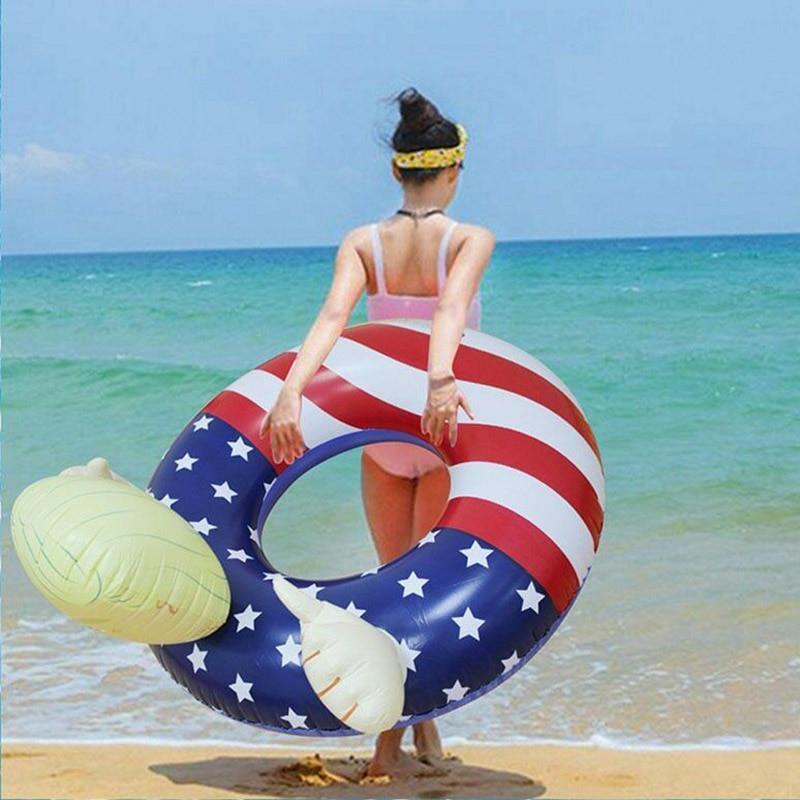 7537ac2522ac Donald Trump piscina flotador inflable natación flotadores anillo de  natación para fiesta de piscina ...
